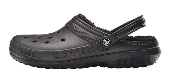 Crocs Abrigo Classic Lined Clog - Black Black