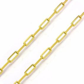 Corrente Masculina Cartier 60cm 2mm Largura Banhado Ouro 18k