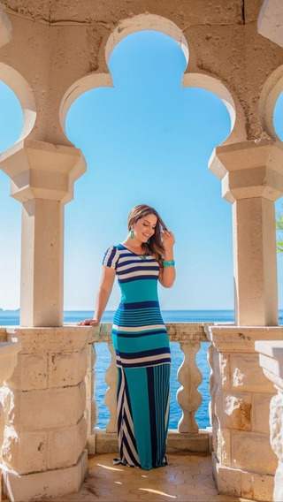 Vestido Joana - Boutique K - Azul