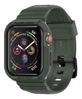Case Spigen Apple Watch S4 E S5 44mm Rugged Armor Pro Green