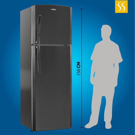 Refrigeradora Mabe 230 Lt No Frost Luz Led Negra