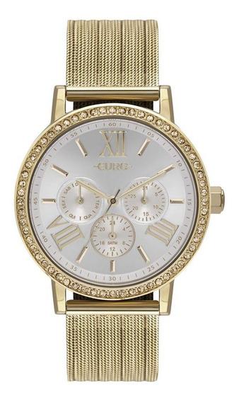 Relógio Feminino Euro Analógico Dourado Eu6p29ahl/4b