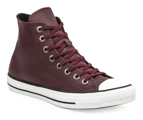 Zapatillas Converser Botitas Ct All Star Leather Hi Bordo