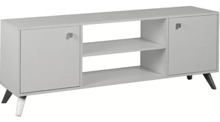 Rack Tv Led Escandinavo Nordico Blanco 1 Año De Garantia