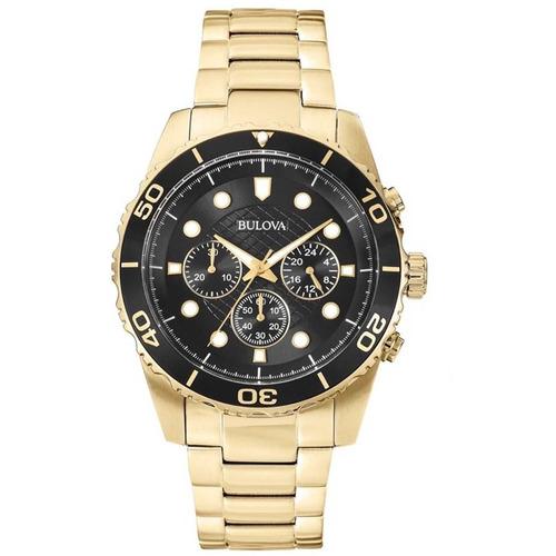 Relógio Bulova Masculino Wb31989u Dourado Preto Oferta