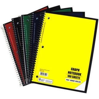 Notebook Quad Ruled 100 Hoja De 5 Piezas