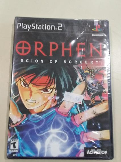Jogo Playstation 2 Orphen Scion Of Sorcery Novo Frete Grátis