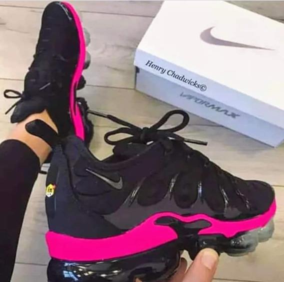 Nike Vapor Max.plus Preto E.pink , Original Na Caixa