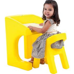Mesa Infantil Com Cadeira Xalingo Brinquedos Amarelo Be