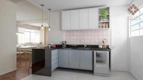 Apartamento Com 2 Dormitórios À Venda, 90 M² Por R$ 980.000,00 - Higienópolis - São Paulo/sp - Ap53735