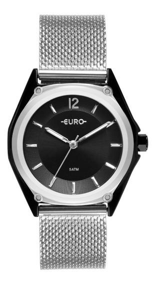 Relógio Euro Feminino Colormix Geometric Bicol Eu2035ypk/5p