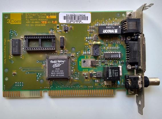 Placa De Red 3com Etherlink Iii-3c509b-c Isa 16bits - Retro