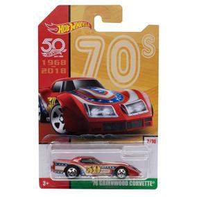 Miniatura 76 Greenwood Corvette Aniversário 50 Hot Wheels