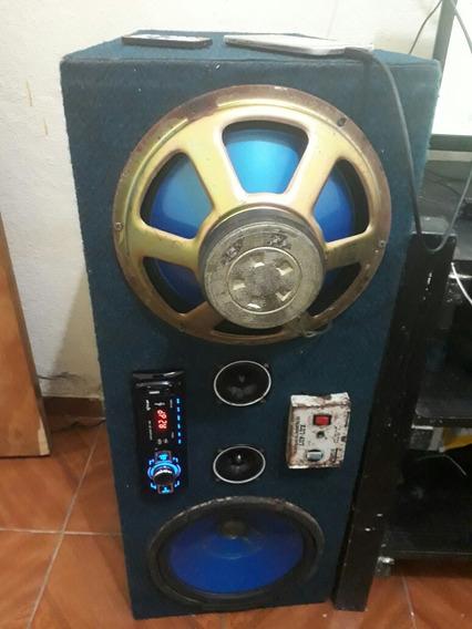 Som Auto Bass Fonte Bivolt 12 Wts Aux,bluetooth,usb,radio