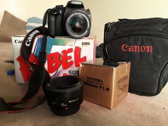 Camera Canon T5 - Lente 18-55 + Lente 55mm