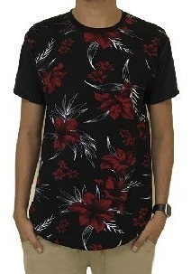 2 Unidades Camiseta Oversized Longline Camisa Blusa Masculi