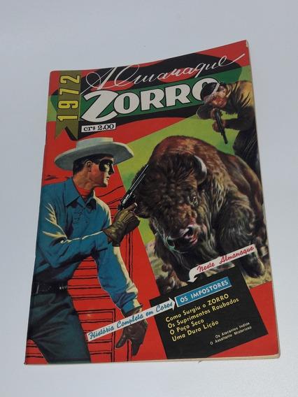Almanaque Zorro - 1972 - Ebal Excelente Raro Antigo