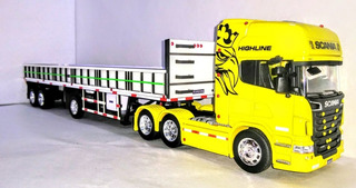 Camión Scania 730 V8 Welly + Slider 1/32