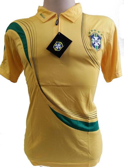 Camisa Polo Brasil Passeio Copa Do Mundo