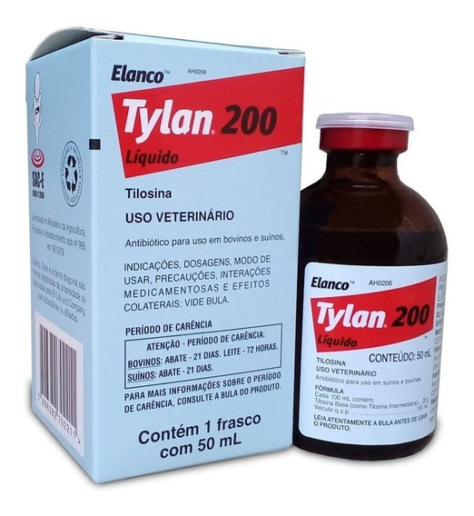 Tylan 200 Injetável 50ml
