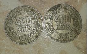 Moeda Antiga 400 Reis 1918,1920