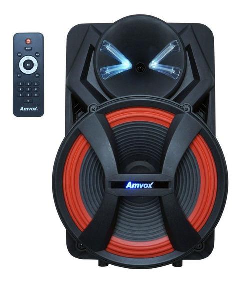 Caixa de som Amvox Power X ACA 900 X portátil sem fio Preto 110V/220V