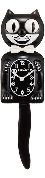 Reloj De Pared Felix Gato, 32 Cm Negro Msi