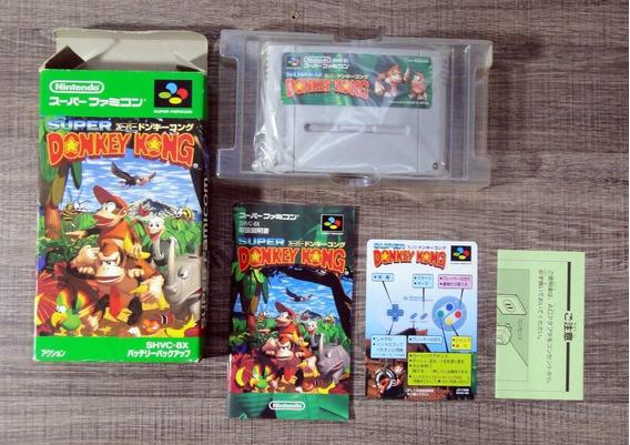 Donkey Kong Snes/sfc Completo Na Caixa Original Jp B6