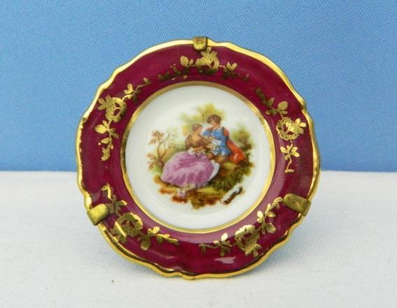 Plato Decorativo De Porcelana Limoges De 5,5 Cm Con Soporte