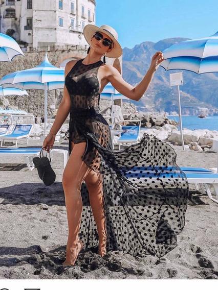 Body Maiô +saída De Praia Festa Luxo Sexy Panicat Fim De Ano