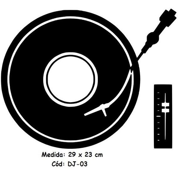 Adesivo Pickup Toca Disco Dj Dee Jay 23x29 Cm - Dj-03