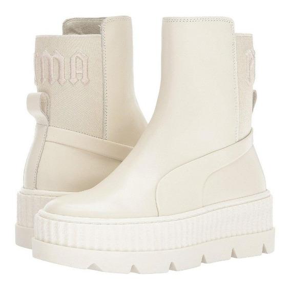 Tênis Bota Puma Chelsea Sneaker Boot Fenty By Rihanna Bege