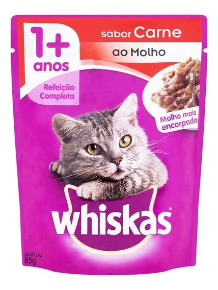 Sache Whiskas Carne 85g Super Oferta Por Tempo Limitado