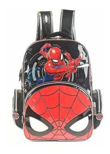 Mochila Espalda Spiderman 3d 17 Plgads Primaria