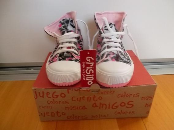 Zapatillas Botas Nena Grisino Original A Estrenar N 32