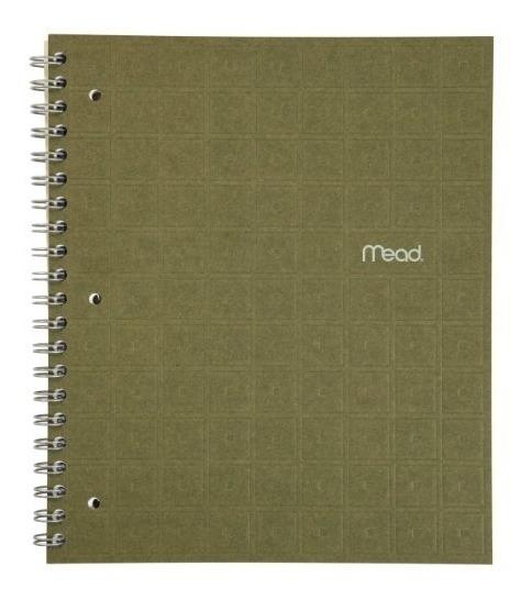 Mead Cuaderno Reciclado, 1 Materia, 80 Hojas Rayado Uni