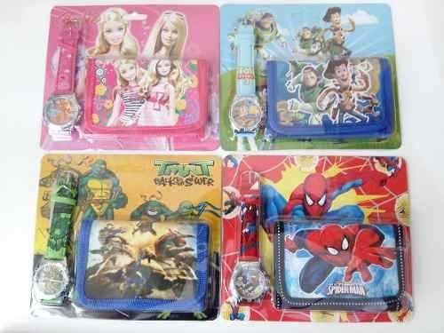 Kit 10 Relógios Barbie Toy Story Tartarugas Ninja H Aranha