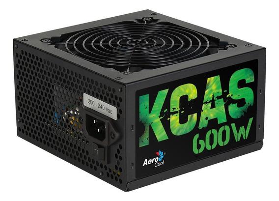 Fonte ATX Aerocool KCAS-600W KCAS Series 230V preta