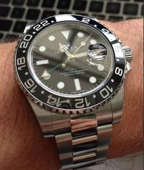Relógio Submariner Gmt Automático Vidro Safira + Caixa