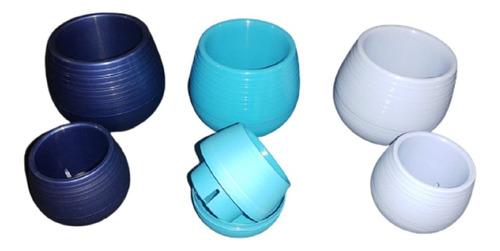 Pack X 10 Macetas Sistema Autorriego Nro 7 Varios Colores