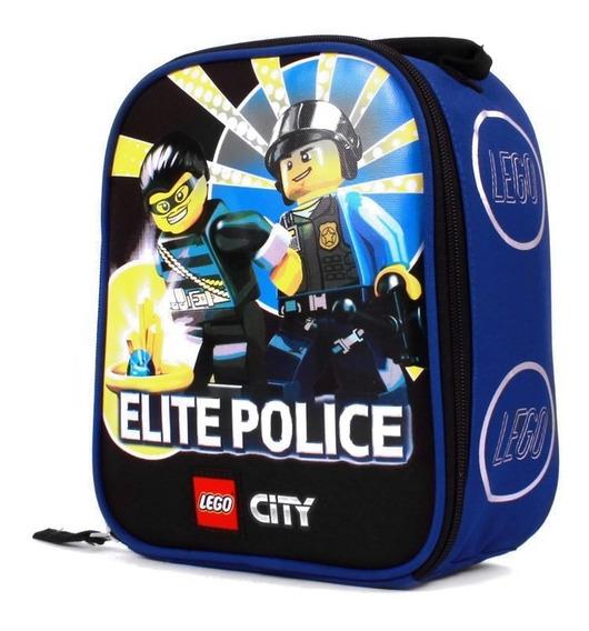 Lonchera Escolar Lego Para Niño Estampado Elite Police Azul