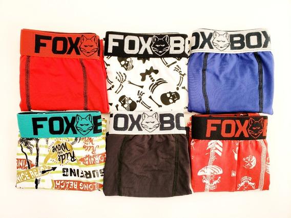 Kit 20 Cuecas Boxer Fox Box Microfibra Atacado Promoção!