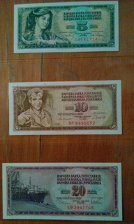 Set De Billetes De Yugoslavia (dinar) (1968-1981)