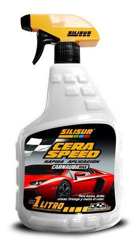 Silisur Cera Speed Gatillo 1lt C/carnauba Wax Brillo Cristal