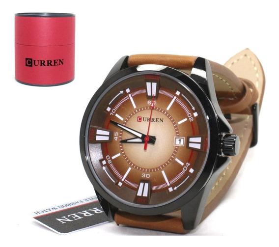 Relógio Masculino Curren 8155 Couro Social Festa Original