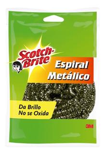 3m Scotch Brite Fibra Espiral Metálico Limpieza Trastes