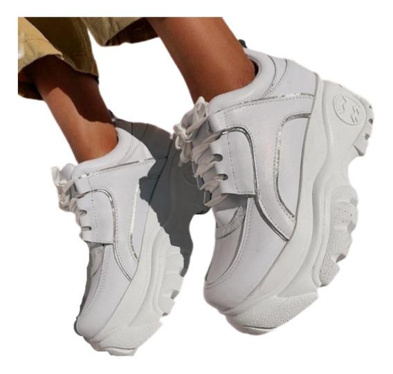 Zapatillas Sneakers Mujer Plataforma Zapato Acordonada Track