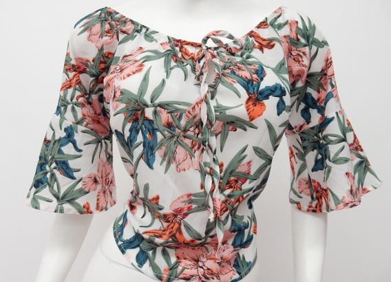 Blusa Floral Marca London Fashion.