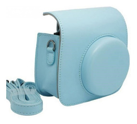 Bolsa Couro Sintético Alça - Câmera Instax Mini Azul