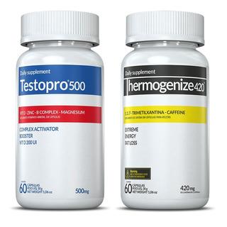 Testopro 500 + Thermogenize 420 - 2x60 - Inove Nutrition